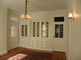 built china cabinets fill one wall dining room lentine marine