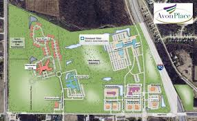 map of cleveland clinic senior living plans congregate care facility at avon place