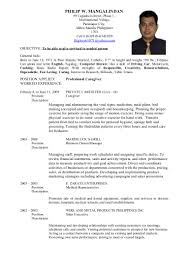 Sample Resume Format Medical Representative by Philip Resume1