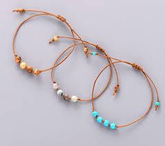 knot cord bracelet images Simple bracelet stones bead friendship bracelet boho cord knot jpg