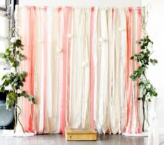 trade show inspiration diy fabric and ribbon backdrop
