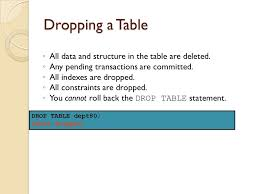Oracle Drop Table If Exists Lecture 2 Using Ddl Statements To Create And Manage Tables