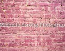 Pink Brick Wall Brick Backdrop Etsy