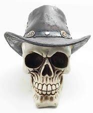 Wild West Home Decor Texas Stand Souvenirs Memorabilia Cowboy Hat Skull Figurine