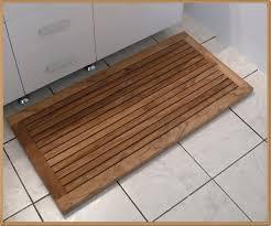 Bath Mat Wood Ideal Teak Bath Mat Home Decorations Ideas