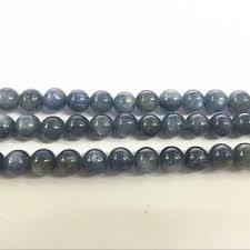 Handcrafted Handmade Semiprecious Gemstone Beaded Kyanite Round Beads Beadage