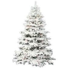 9 foot flocked tree wayfair