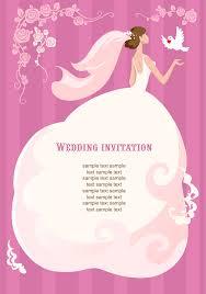 dove wedding invitations wedding invitation with bride vector download