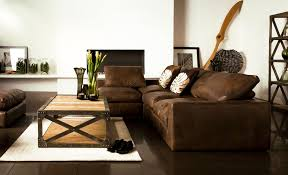rustic living room furniture ideas with brown leather sofa living room charming modern living room ideas with wall fireplace