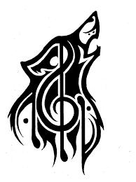 tribal wolf music theme tattoo refined by p d kiko deviantart com