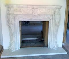 fireplace marble tile surround installation white hand carved