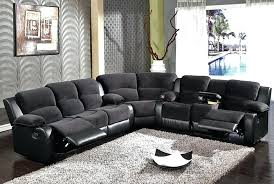 Reclining Leather Sectional Sofa Sectional Grey Reclining Sectional Couch Grey Leather Sectional