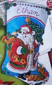 Felt Christmas Stocking Tree Decoration by Bucilla New Release