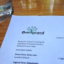 Backyard Restaurant Menu Sonoma Dog Friendly Wineries Restaurants And Other Places Of