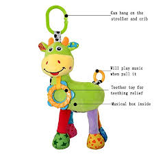 baby musical toys stroller toys hanging stuffed animal soft doll 0