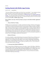 Software Testing Sample Resume by Stunning Ideas Mobile Testing Resume 11 Sample Software Testing