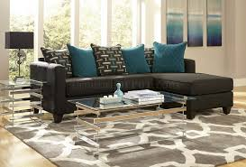 Charcoal Sectional Sofa 3002 Sectional Sofa In Charcoal Black Chenille Fabric