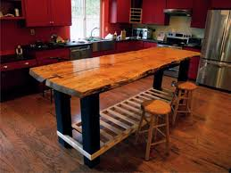 Kitchen Island Table Plans Exciting Kitchen Island Plans Ideas By Red Wooden Drawers With