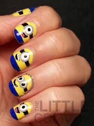 despicable me minion nails tutorial the little canvas