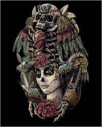 Aztec Design Rugs Ancient Aztec Sugar Skull Day Of The Dead Rug U2013 Sugar Skull Bedding
