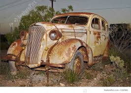 Image Of Old Rusted Car