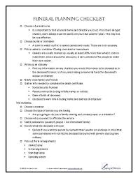 funeral planning guide funeral planning checklist funeral planning checklist funeral