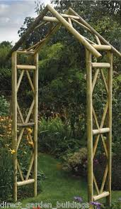 wedding arch ebay uk new rustic garden wooden arch wood archway pressure treated timber