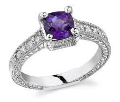 rings with amethyst images Art deco diamond and amethyst ring 14k white gold jpg