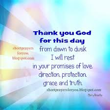 thank you god for this day prayers for you