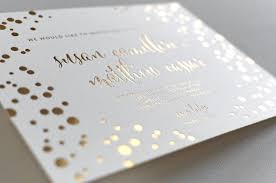 wedding invitations gold gold foil wedding invitations elegante press professional