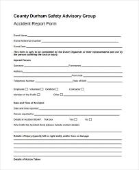 accident reporting book 26 sample accident report forms