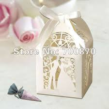 and groom favor boxes 120pcs groom ivory laser cut wedding favor boxes candy box