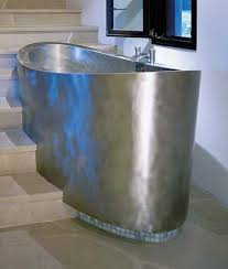 Stainless Steel Bathtubs Copper Bathtubs Add Exquisite Aquatic Vessels In Vintage Style To