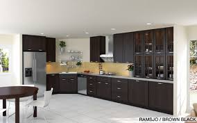 Kitchen Cabinets Ideas  Ikea Black Brown Kitchen Cabinets - Ikea black kitchen cabinets