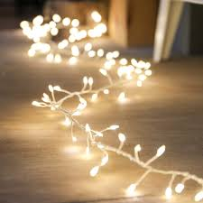 in cluster wire lights on silver wire 160 warm white leds