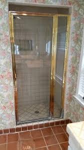 Gold Shower Doors Updating Gold Trim Shower Enclosures Bryn Mawr Glass