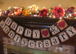 40th wedding anniversary party ideas 40th anniversary party theme ideas 40th 40th