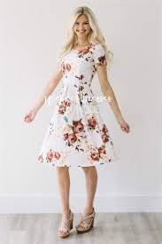 cream mauve floral modest bridesmaids dress cute modest clothes