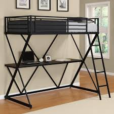 duro z bunk bed loft with desk black hayneedle