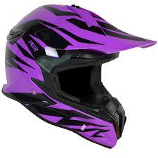 purple motocross helmet pgr sx22 slash purple black mx motocross dirt bike off road buggy