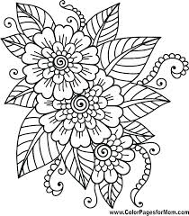 printable coloring pages flowers printable adult coloring pages adult coloring pages completed ideas