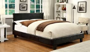 furniture of america cheshire platform bed with bluetooth speakers