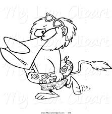 clipart of a cartoon black and white coloring page outline design
