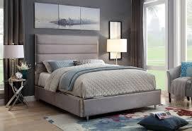 furniture of america gillian warm grey full size bed cm7262gy f
