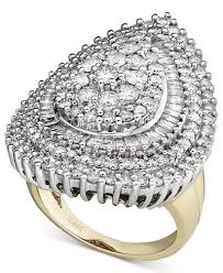 cluster rings pear diamond cluster ring in 14k white gold and 14k gold 3 ct