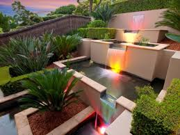stunning spanish courtyard with small water garden designs feat