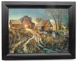 John Deere Home Decor John Deere Tractor Farm And Barn Art Print Country Home