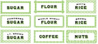 labels for kitchen canisters free labels or kitchen pantry items sugar flour rice coffee