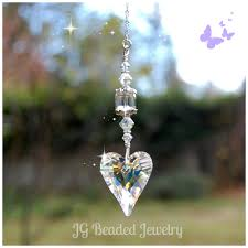 swarovski home decor swarovski crystal heart jg beads