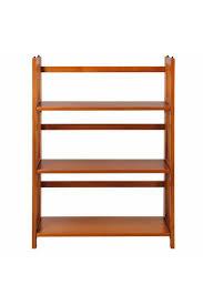 manhasset slatted 4 shelf folding bookcase casual home